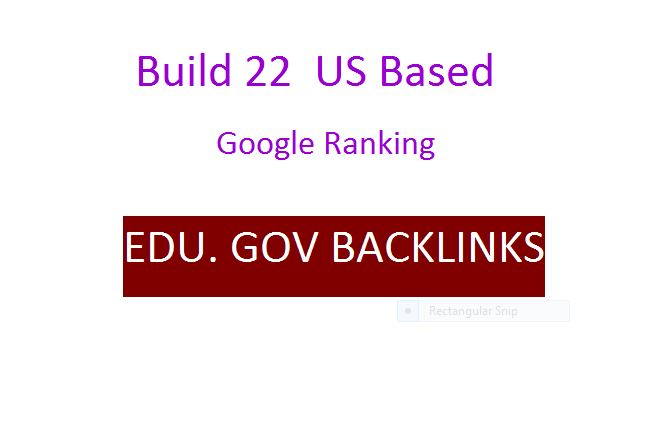 Get 22 EDU and GOV Authority Backlinks from US base sites
