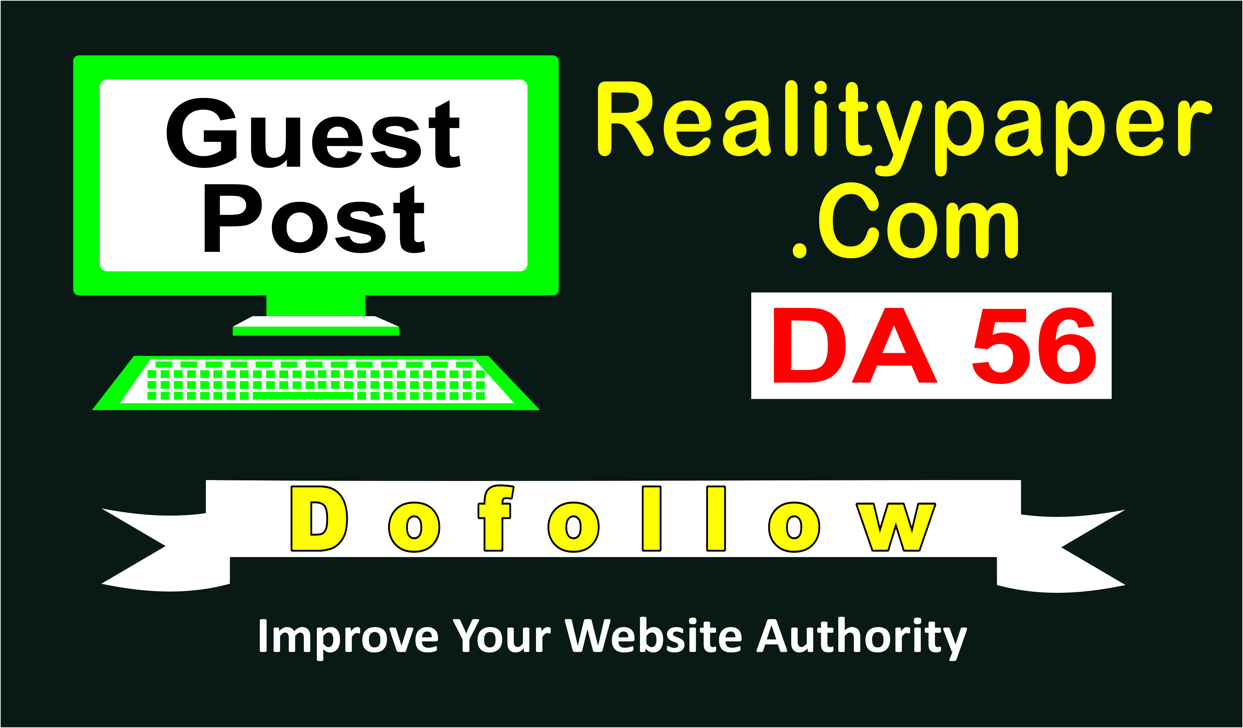 write and publish a guest article with DO link at da56 site