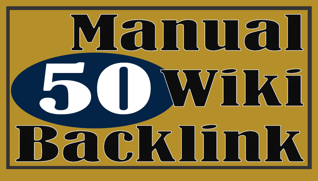 Manual 50 wiki contextual backlink for PR9 Site SEO Service