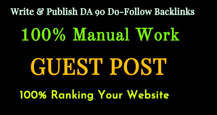 I Will Write And Publish 1 Guest P0st DA 92 Do F0ll0w Backlinks
