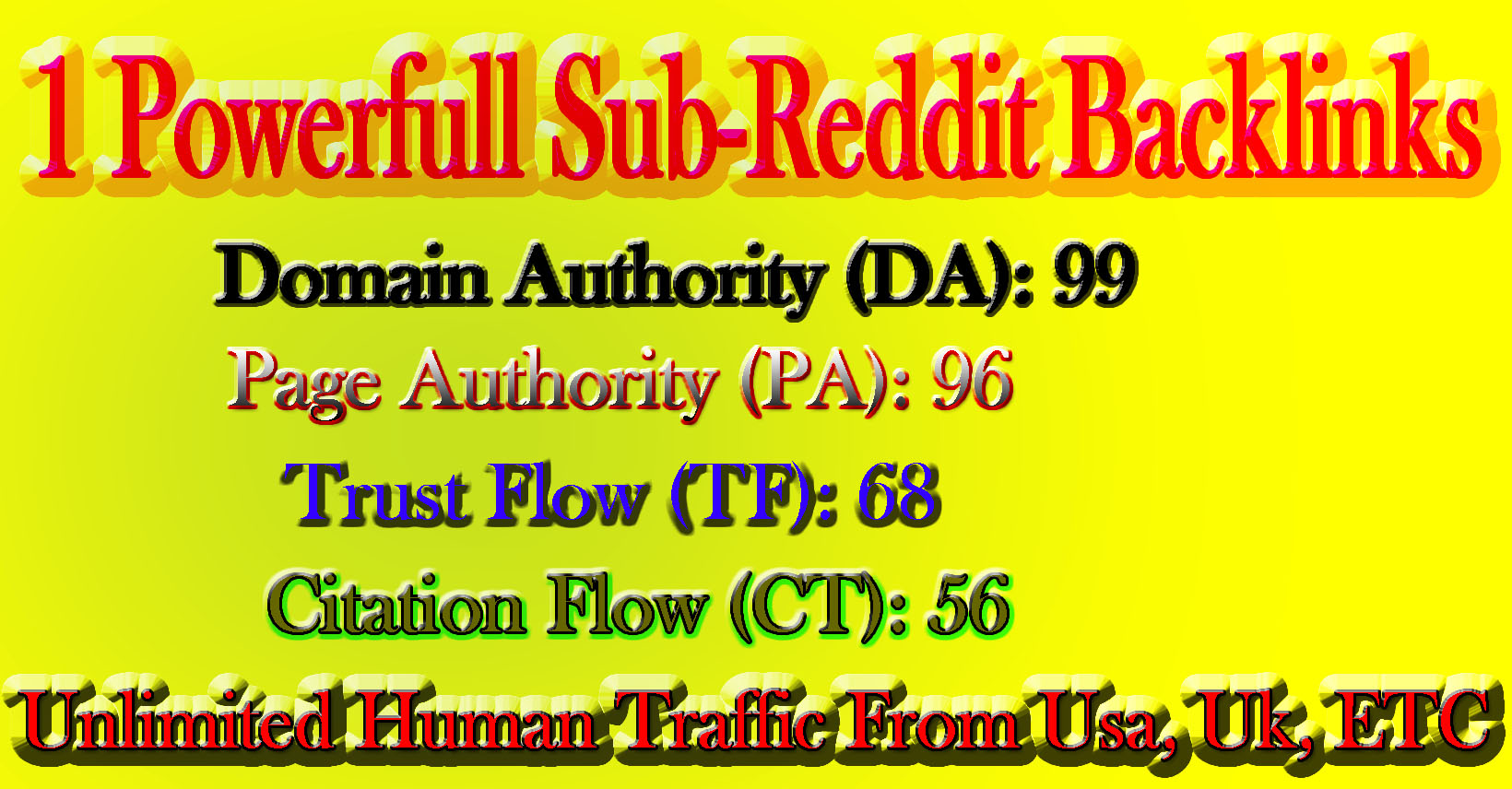 1 Powerfull Category Based-Reddit Backlinks for your link
