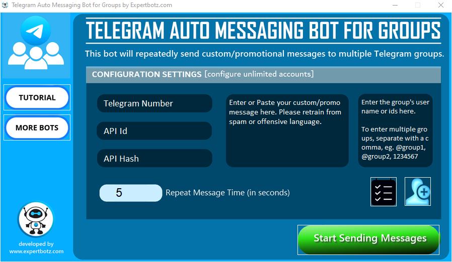 Telegram GR0UP Messaging Bot - send unlimited messages to multiple GR0UPS