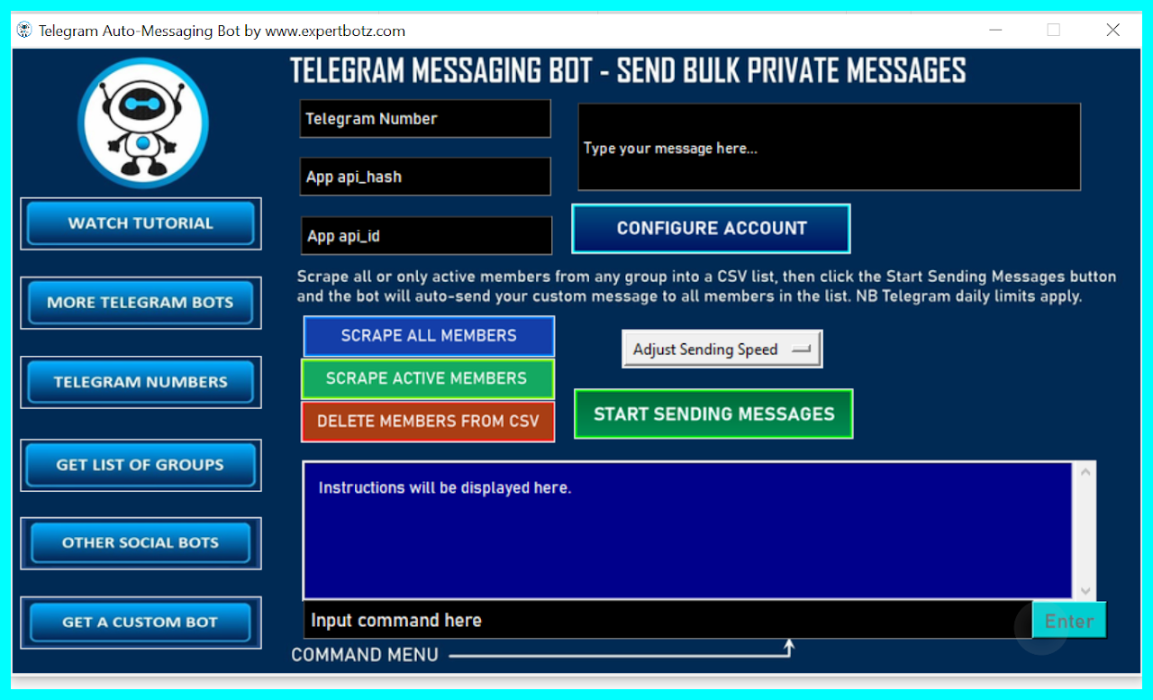 Telegram Auto-Messaging Bot - send BULK private messages,  target any community