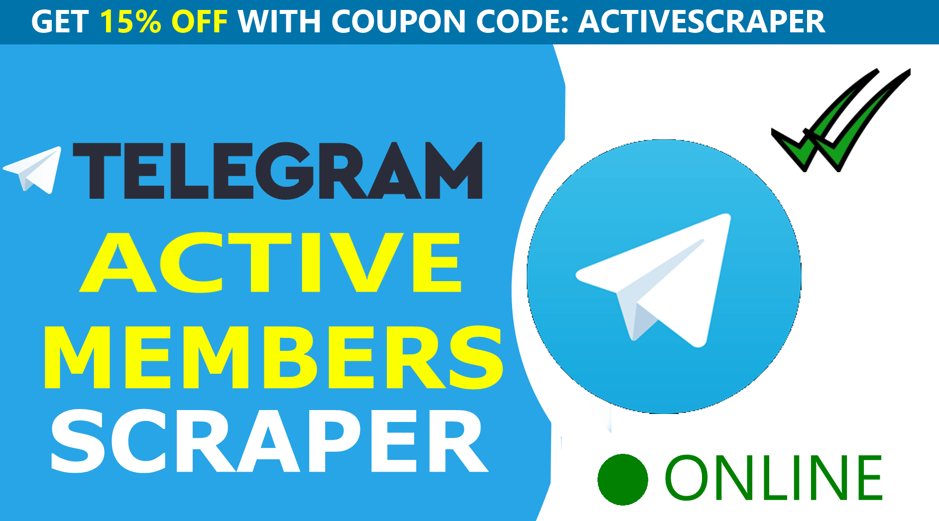 Scrape ACTIVE Telegram Users Bot - Unlimited + Scrape from any gr0up