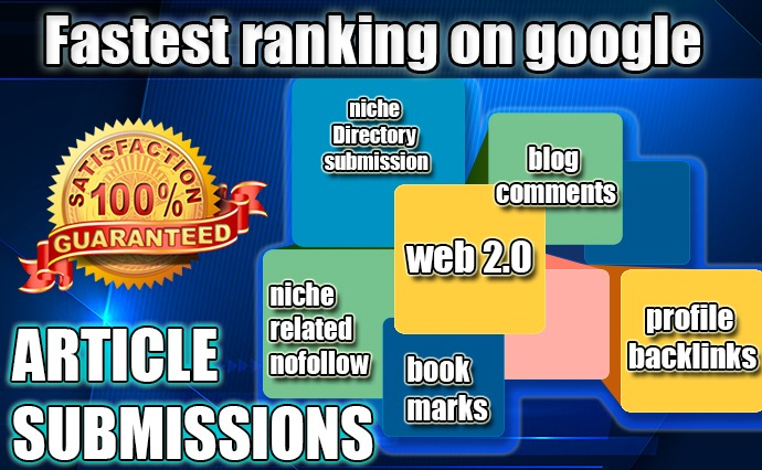 Get Higher rank on Google with high Quality web2.0, Profile, Bookmarks and many more backlinks, DA40+