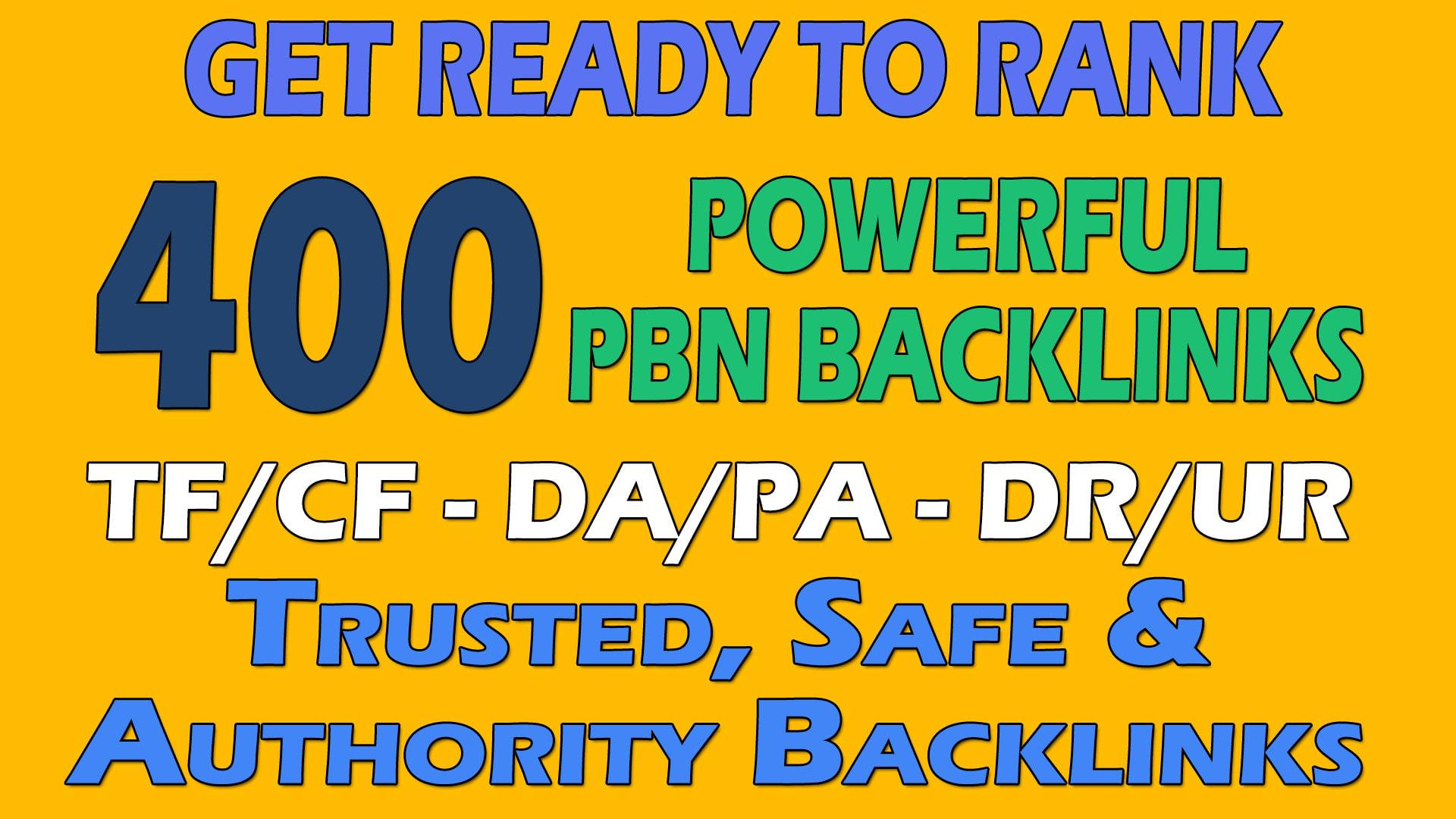 I will build 400 unique Domains PBN backlinks DA 50PLUS