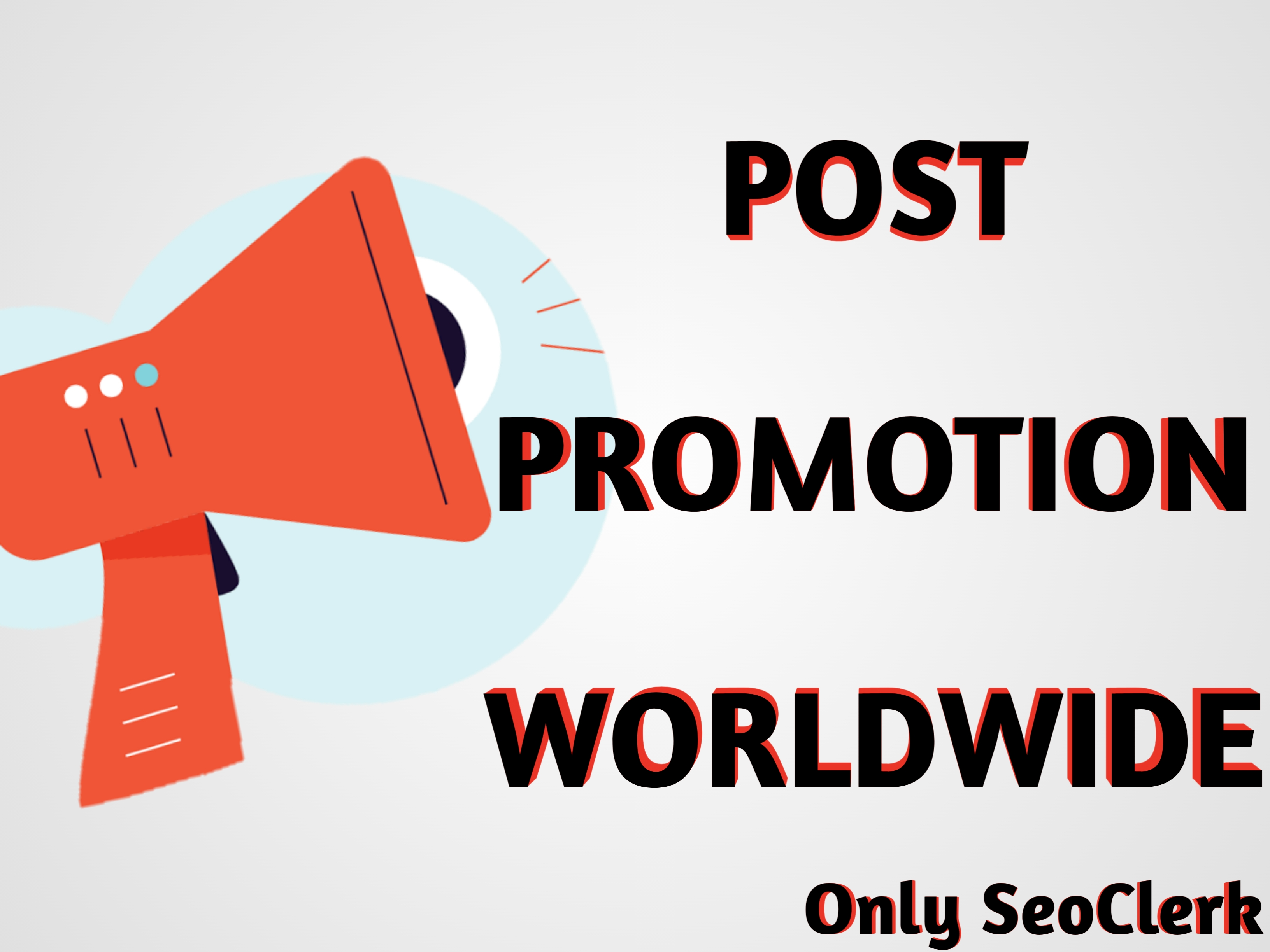 real Social Video and Post Promotion via Social marketing