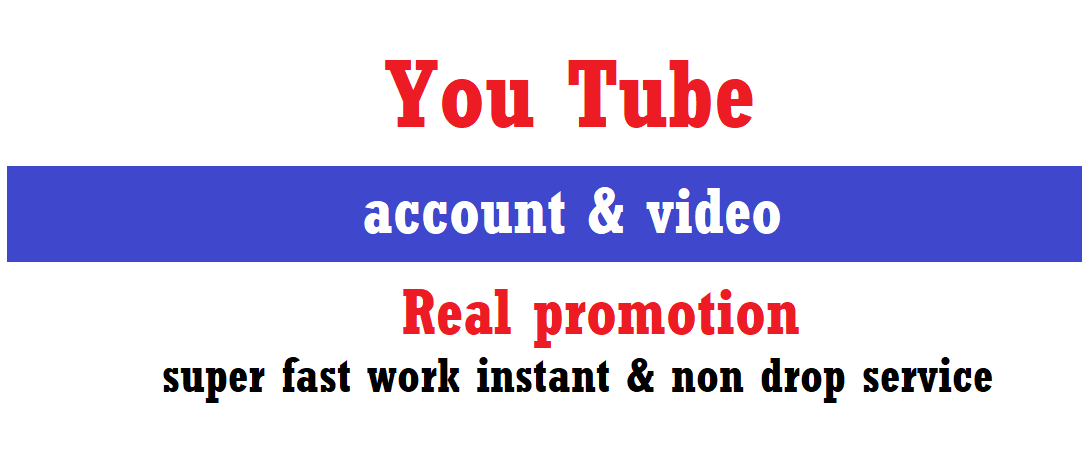 Organic YouTube Package Promotion All In One Service Super Fast work