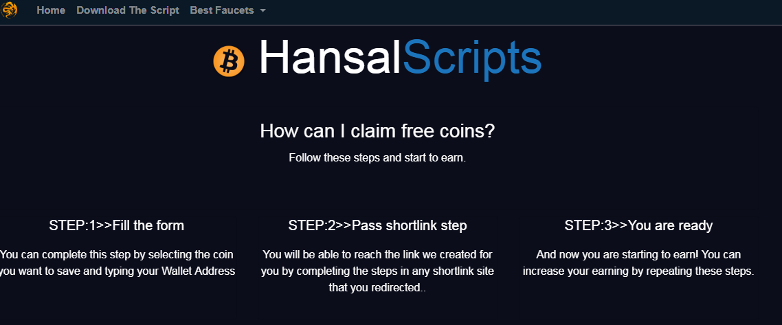 AutoFaucet Script Pay Via ExpressCrypto, walcrypto and faucetpay from hansal scropts
