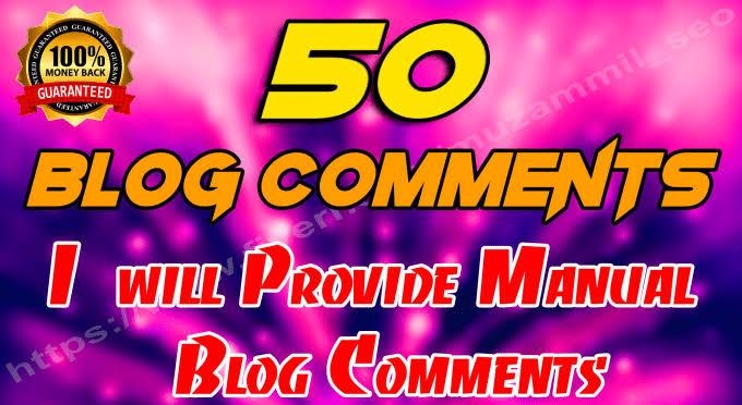 50 SEO blog comments backlinks