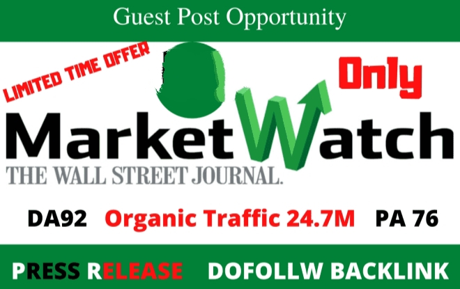 publish a guest post on MarketWatch da92 with dofolow backlinks.