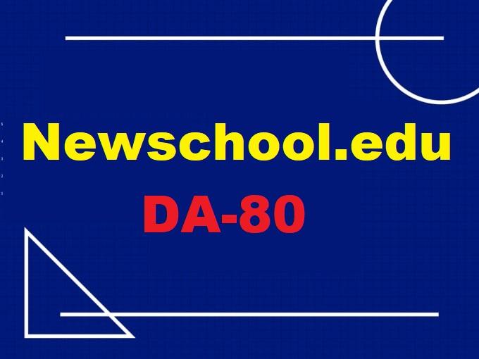Guest Post On Newschool. edu DA-80