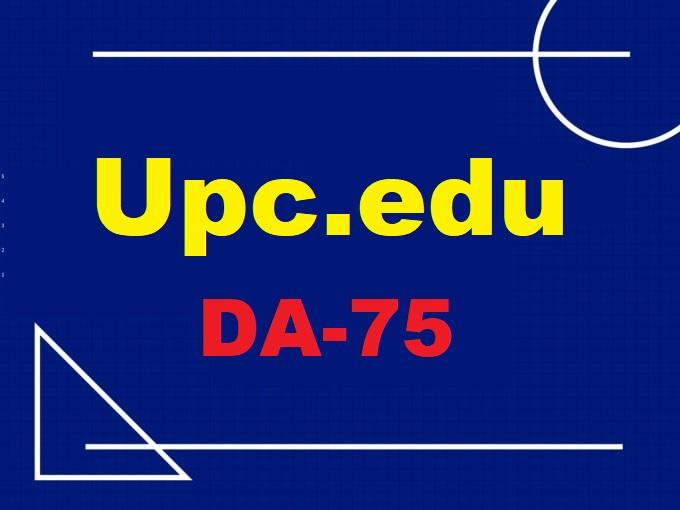 Guest Post On Universitat Politè cnica De Catalunya Upc. edu DA75