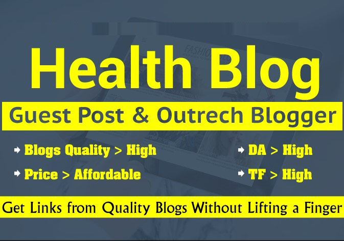 I will provide health and fitness guest post on DA-93 real heal blog