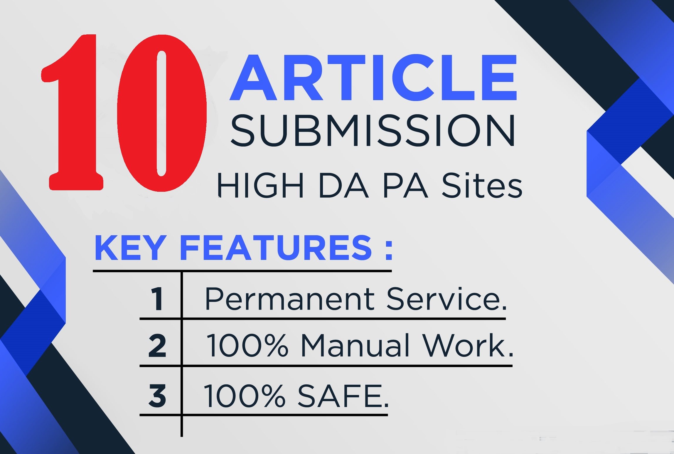 Offer-10 Dofollow Article Submission From most popular 70+DA Unique Site & INDEX quality backlinks