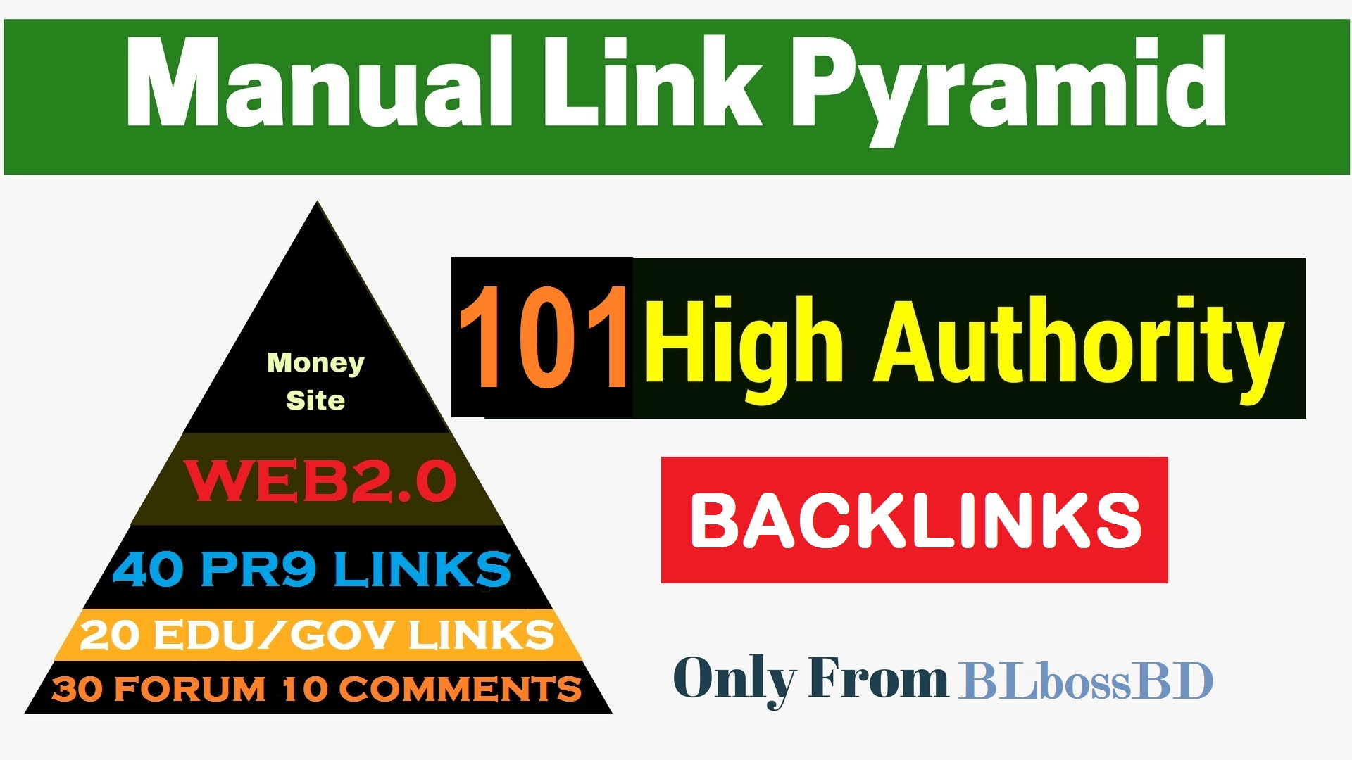 101 Strong Link Pyramid to Boost Top Page by exclusive backlinks From High DA PA Unique Domains