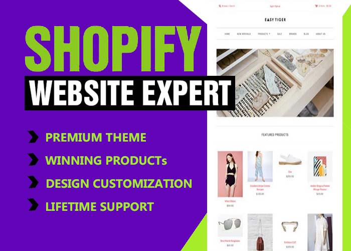 Do Professional Responsive shopify website or dropshipping store design
