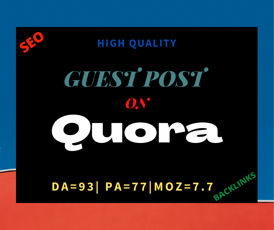 I will provide you high quality guest post backlinks DA 93