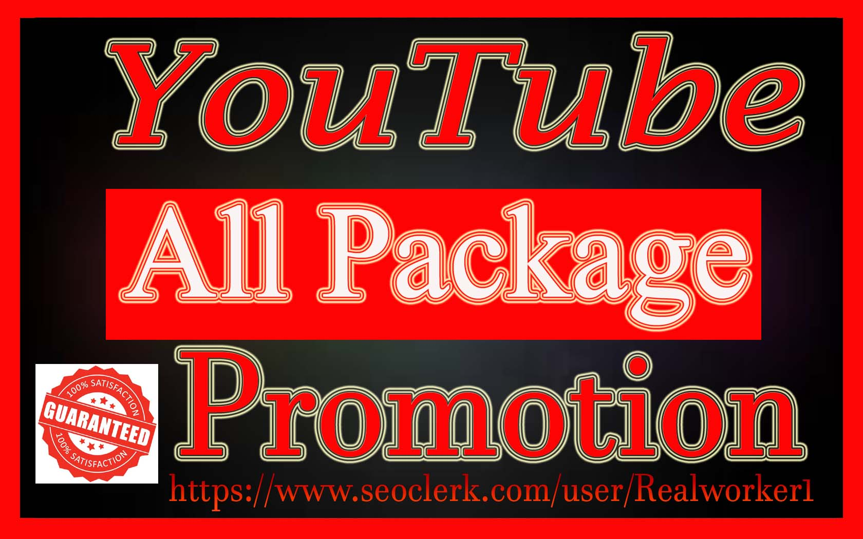 YouTube Video And Chanel Promotion Vai Real Audience