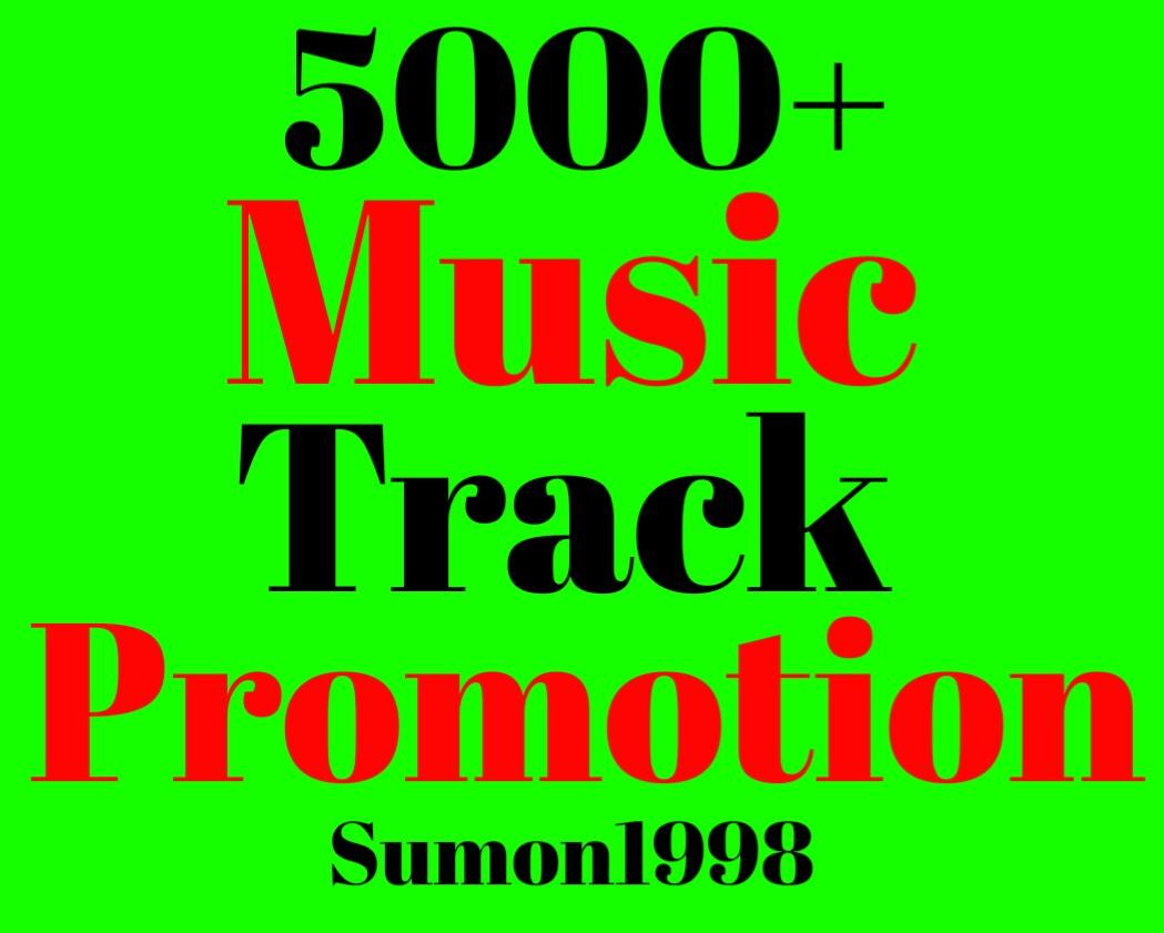 Music Promotion 5000+ Album Artist Playlist Hits Unique Listeners Non Drop Lifetime Guarantee