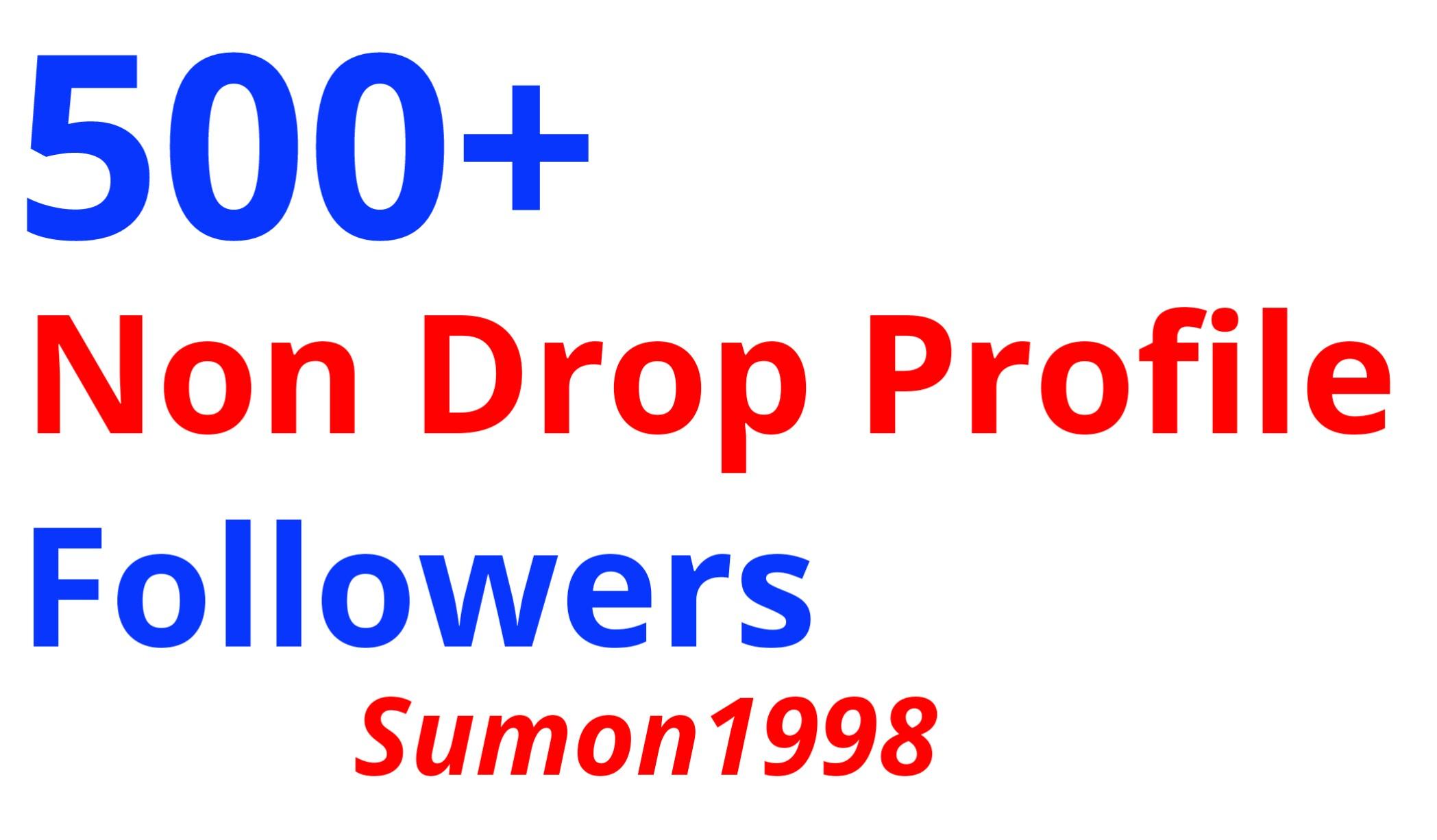 ADD 500+ Non Drop Profile Followers 30 Days Refill Back Guarantee