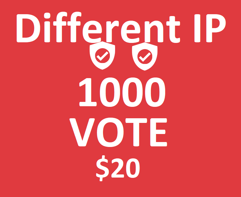 Different 1000 ips votes on your online poll voting