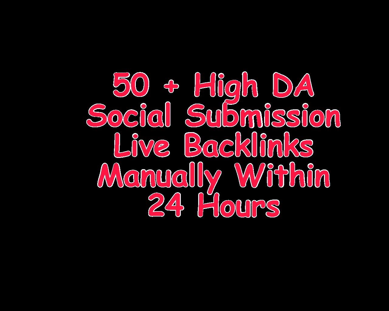 Instant 50 + Live Social Bookmarking Backlink Within 24 Hours Manually