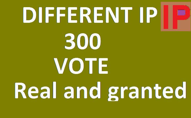 Get You excellent 300 Different IP Votes On Your Online Voting Contest Entry Poll