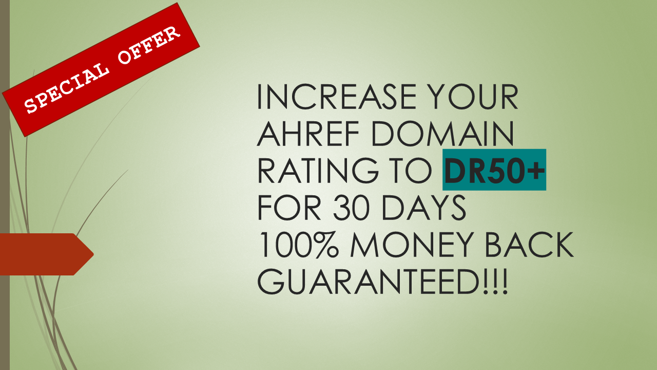 I will increase your Ahref Domain Rating to DR10+ for 15 Days Guaranteed