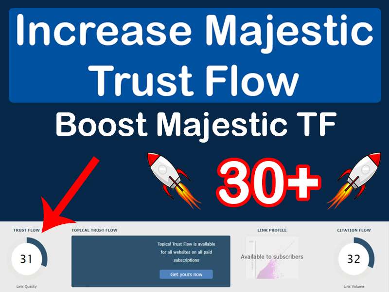 I will increase your Trust Flow to TF30+ or more