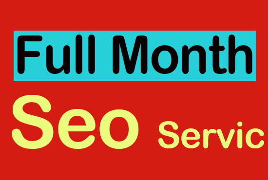 Full Month improve and optimize your website SEO