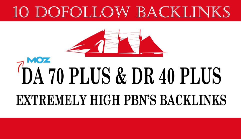 build 10 DA70 plus and DR40 plus pbn backlinks dofollow