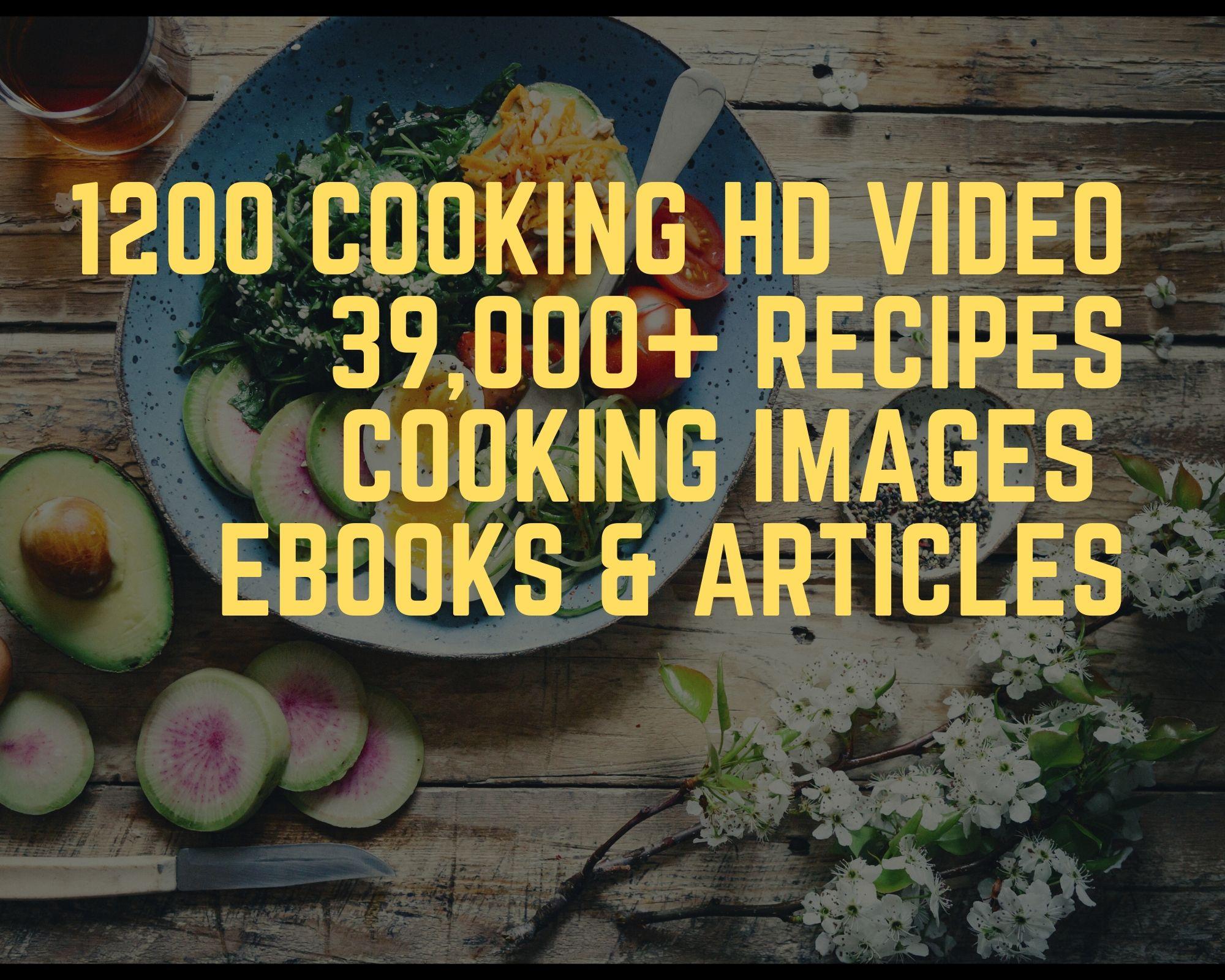 1200 cooking videos for YT,  Facebook,  Instagram,  website etc