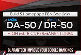Do 5 PBN DR 40+ Homepage Backlinks