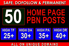 Build 50 Homepage Pbn Backlinks All Dofollow Quality Link