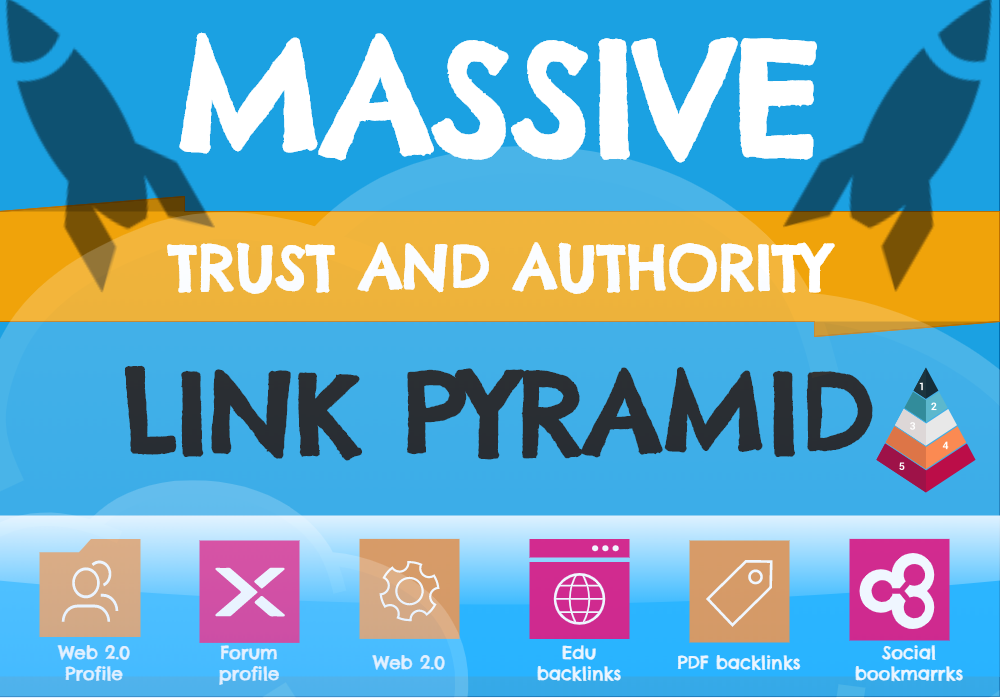 Tier 3 Manual Link Pyramid - PBNs,  Web2.0,  EDU,  Social