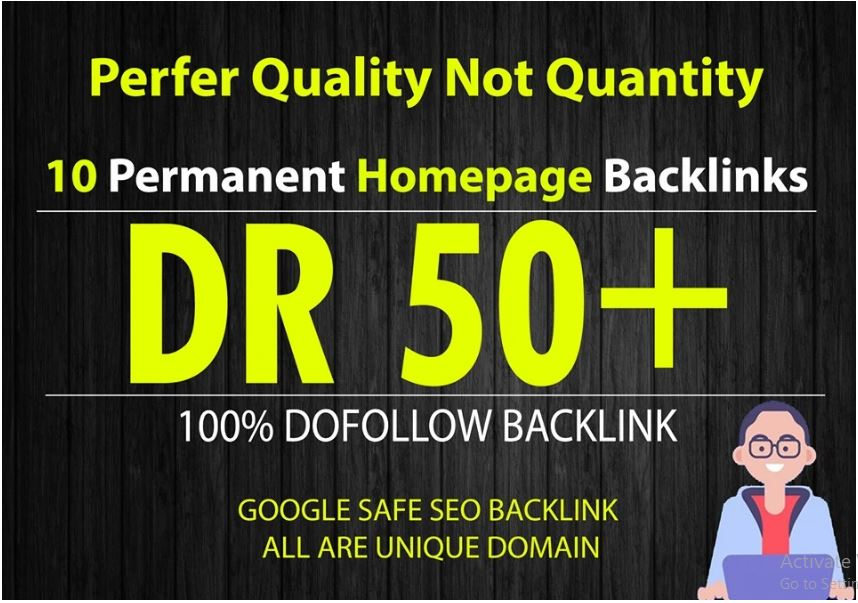 I will make 10PBN DR 50 dofollow permanent homepage pbn backlinks