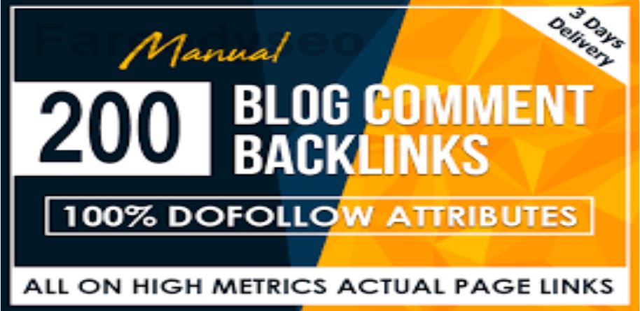 I Will 200 Blog Comments On Actual Page Of High Da Pa Links Manually