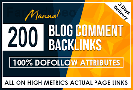 I Will Do 200 Blog Comments On Actual Page Of High Da Pa Links Manually