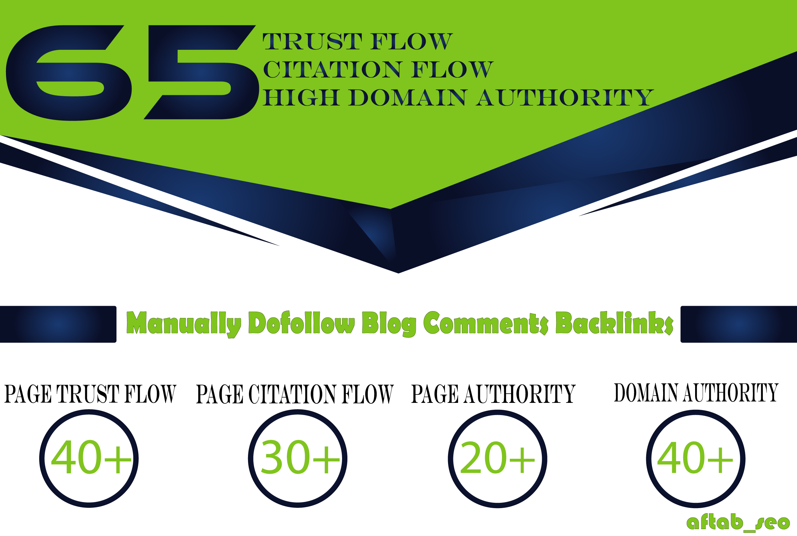 Manually 65 Dofollow Blog comment Trust Flow Citation Flow High Domain Authority Backlinks