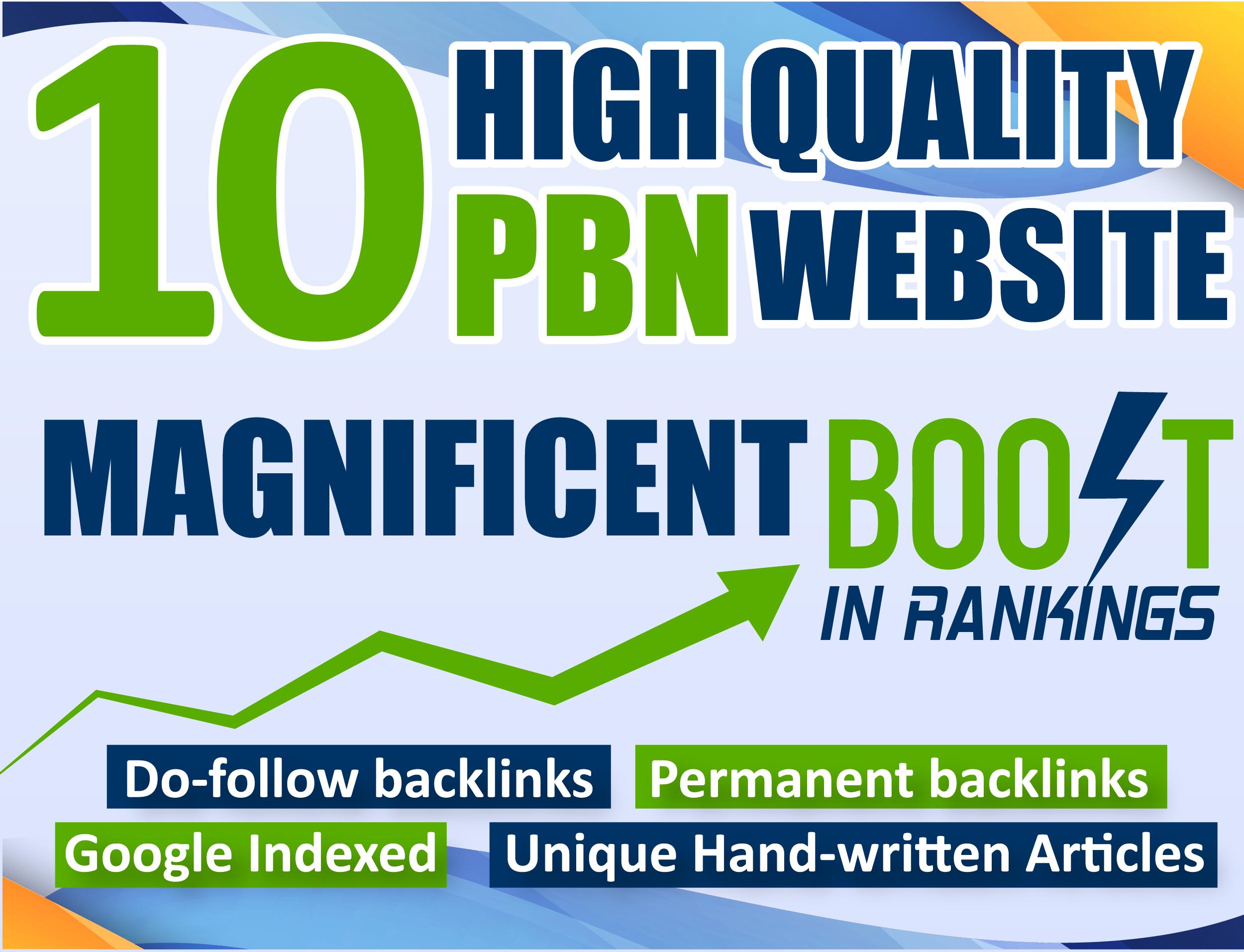 I Will Provide 10 Manual Pbn Post Dofollow SEO Backlinks High DA PA TF CF DR Quality links