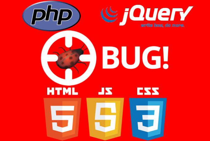 fix any website bugs/issues - HTML,  PHP,  CSS,  Wordpress