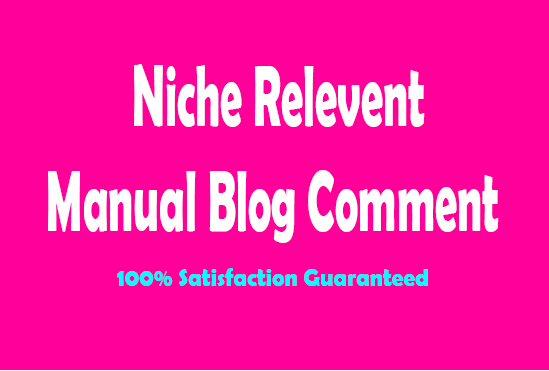 20 High Quality Niche Relevant Blog commenting Seo Backlinks