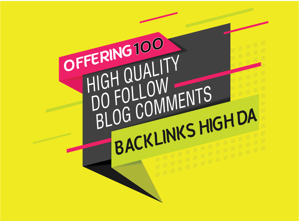 Unique Offer 100 Manually Do Follow Blog Comments With 50 Off
