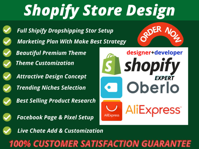 Design Shopify ecommerce and online store