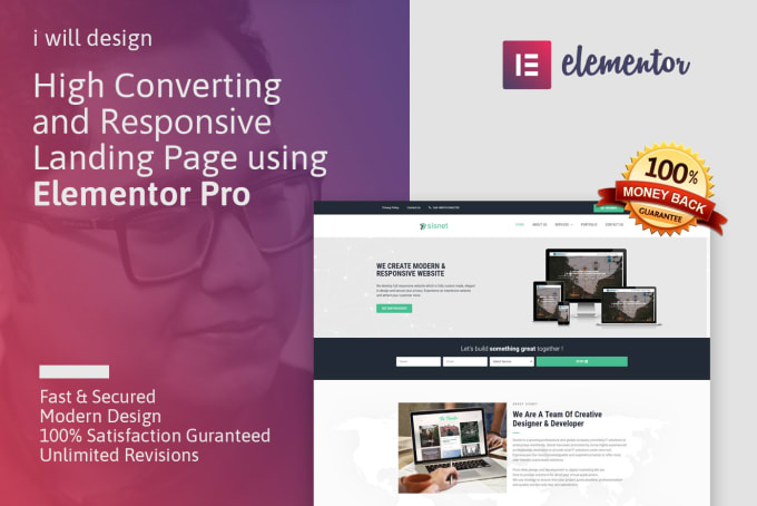 design modern wordpress website using elementor pro
