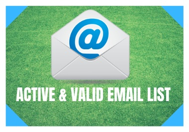 Targeted 1000 Active Email List For Email Marketing to Increase your Sells