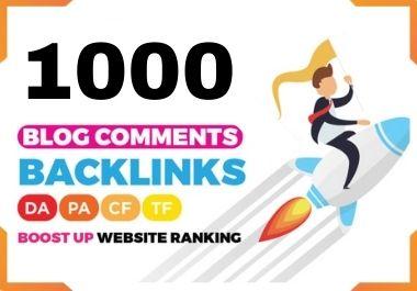 Build 1000 Unique Blog Comments SEO Backlinks White Hat Link Building Service