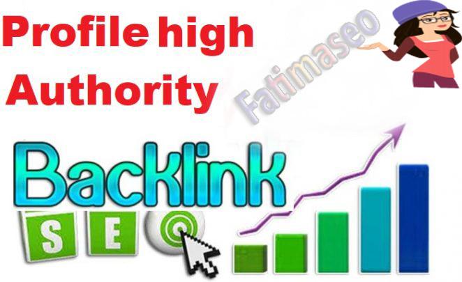 20+High Authority Profile backlinks for google rank