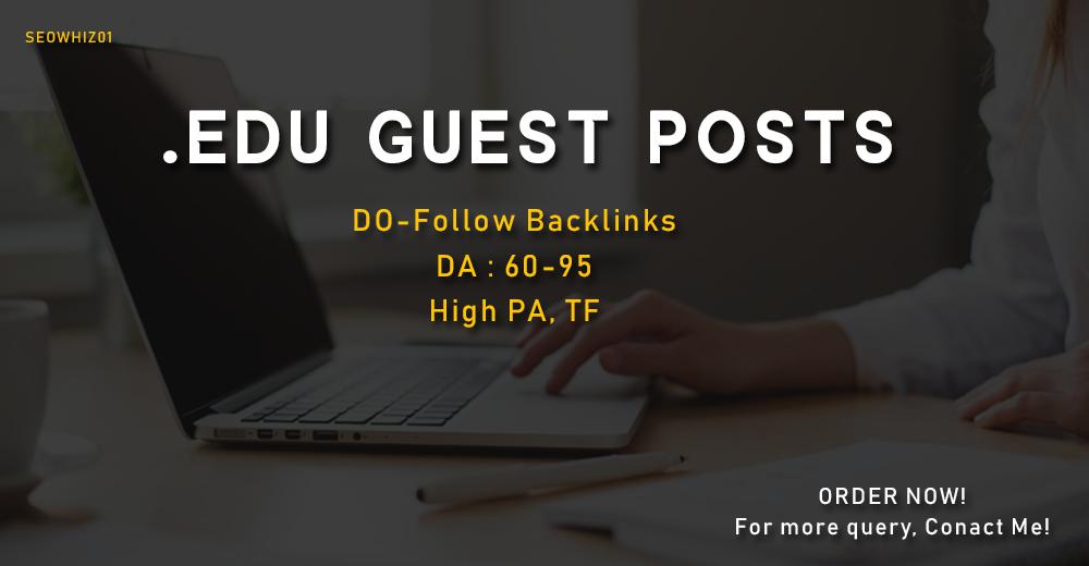 Write and Publish 3 EDU Guest posts - DA 70+